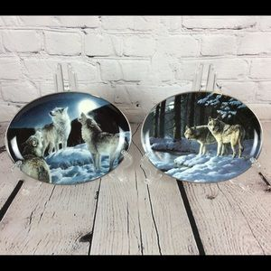Wolf Collector Plates The Bradford Exchange Oval 2